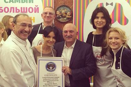 В Белоруссии узбекским шеф-поваром приготовлен самый большой лагман в мире