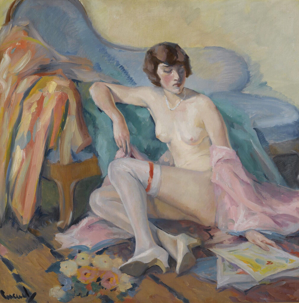 Edward Cucuel - Girl in White Stockings.jpeg