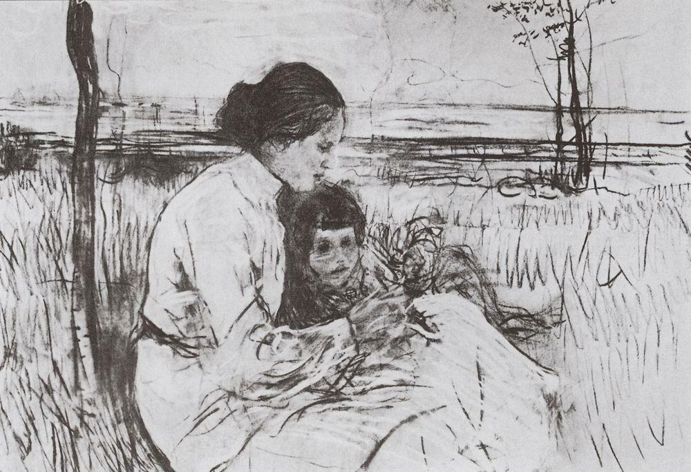 Дети художника. Ольга и Антоша Серовы. 1906.jpg