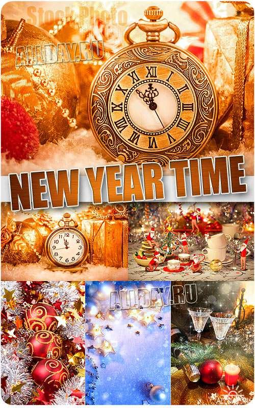 Время Нового года - Растровый клипарт