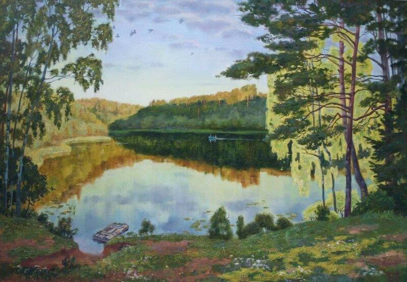 Елена Мурашёва. Лесное озеро.jpg