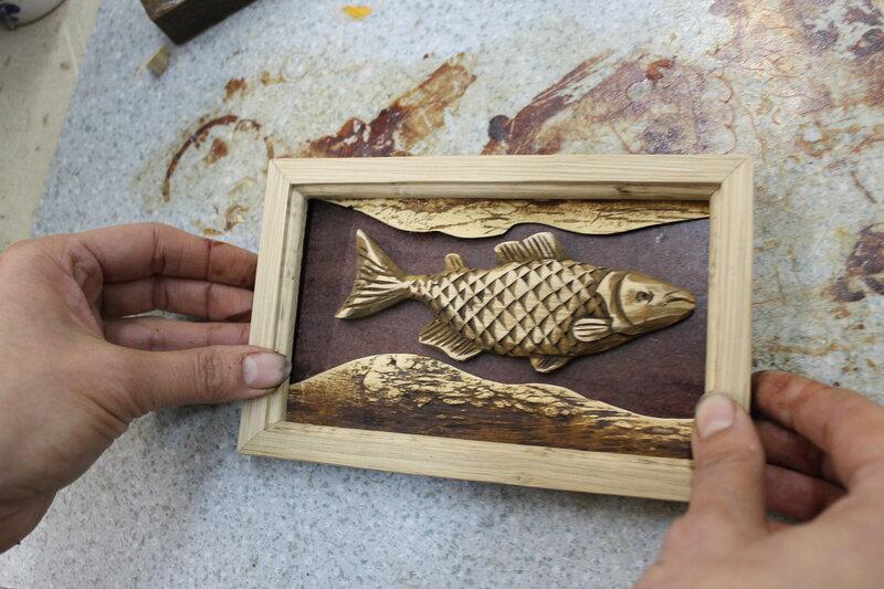 Деревянная рыба