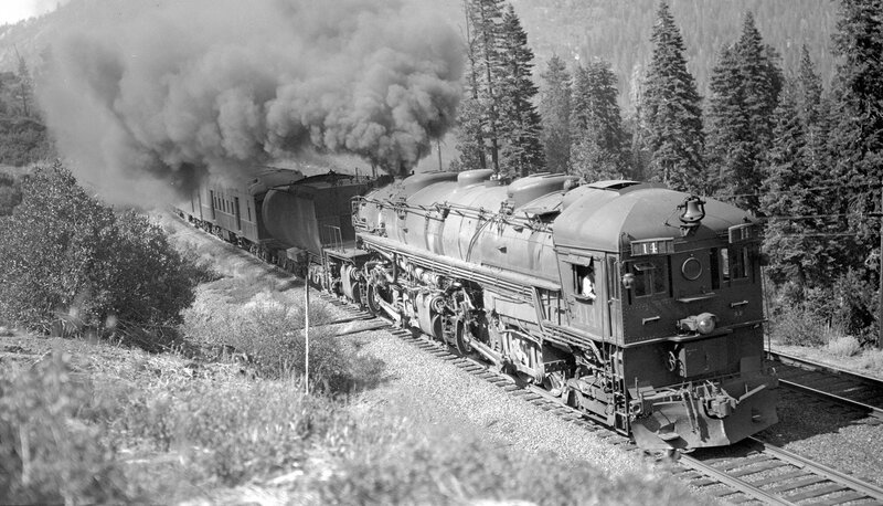 Southern Pacific train, engine number 4146, near Cisco, Cal., August 3, 1935.