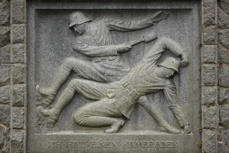 Мемориал павшим немецким солдатам в городе Золанд-на-Шпре в Саксонии
