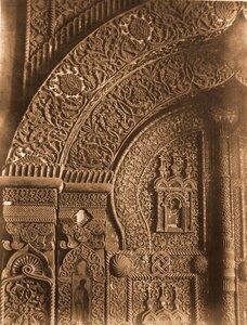 Деталь царских врат в Лагозовицкой церкви. Псков г., близ Пскова