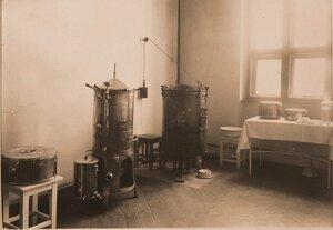 Вид помещения стерилизационной госпиталя.