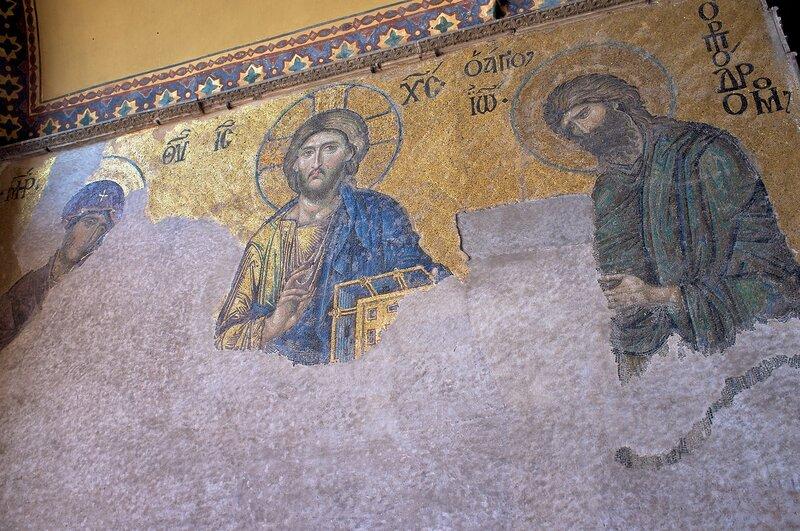 Стамбул. Христианские фрески в Айя Софии.