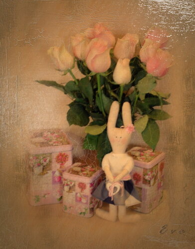 Зайка и розы...(3)