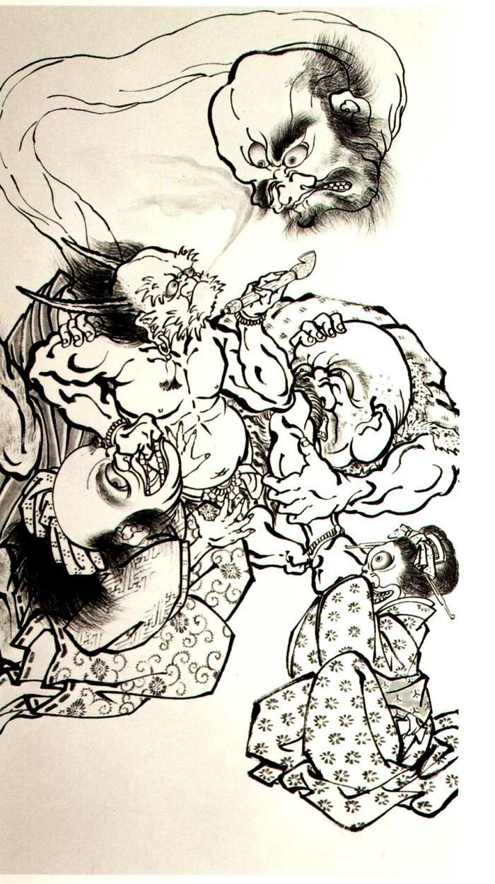 Злобные демоны на эскизах татуировок японского художника Horiyoshi (18)