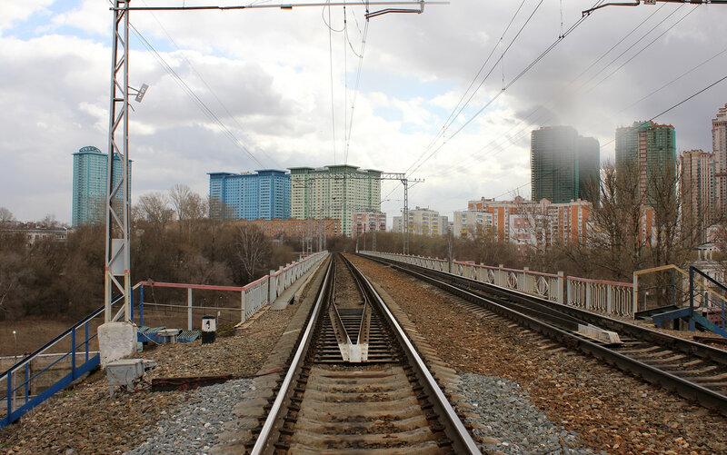 Рижское направление над каналом имени Москвы
