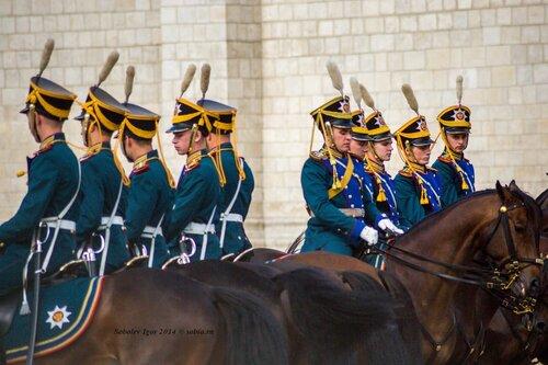 Развод конного и пешего караула в Кремле