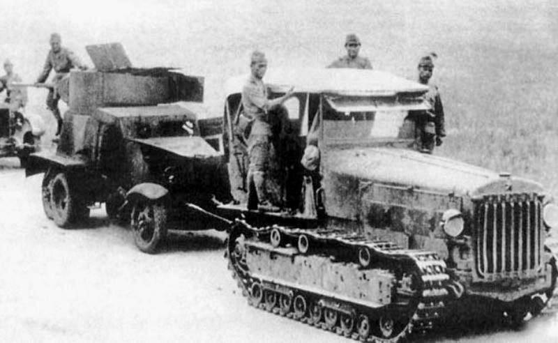 Японцы буксируют захваченный БА БА-6.