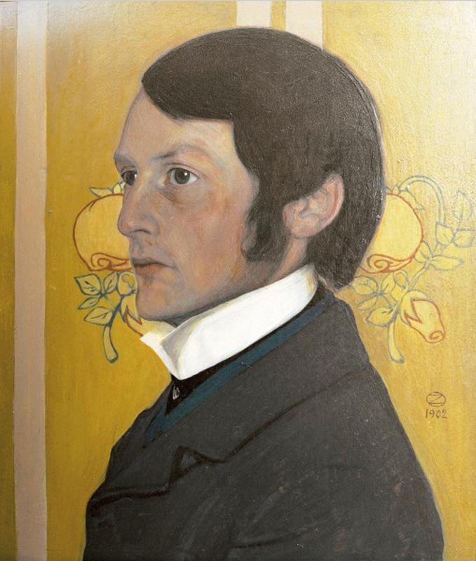 Портрет Генриха Фогелера, 1902 Оскар Цвинчер (1870-1916), Германия