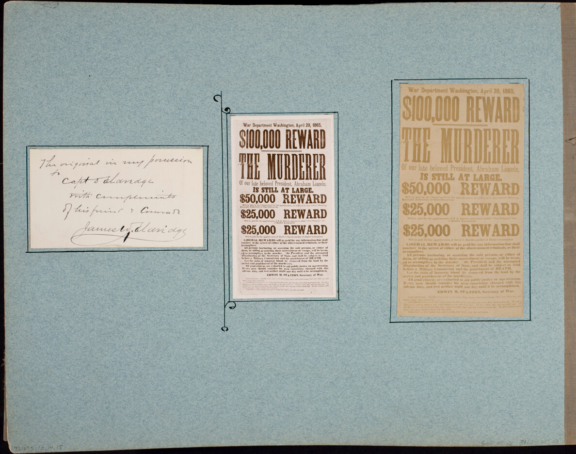 Copy of hand written note from James W. Eldridge