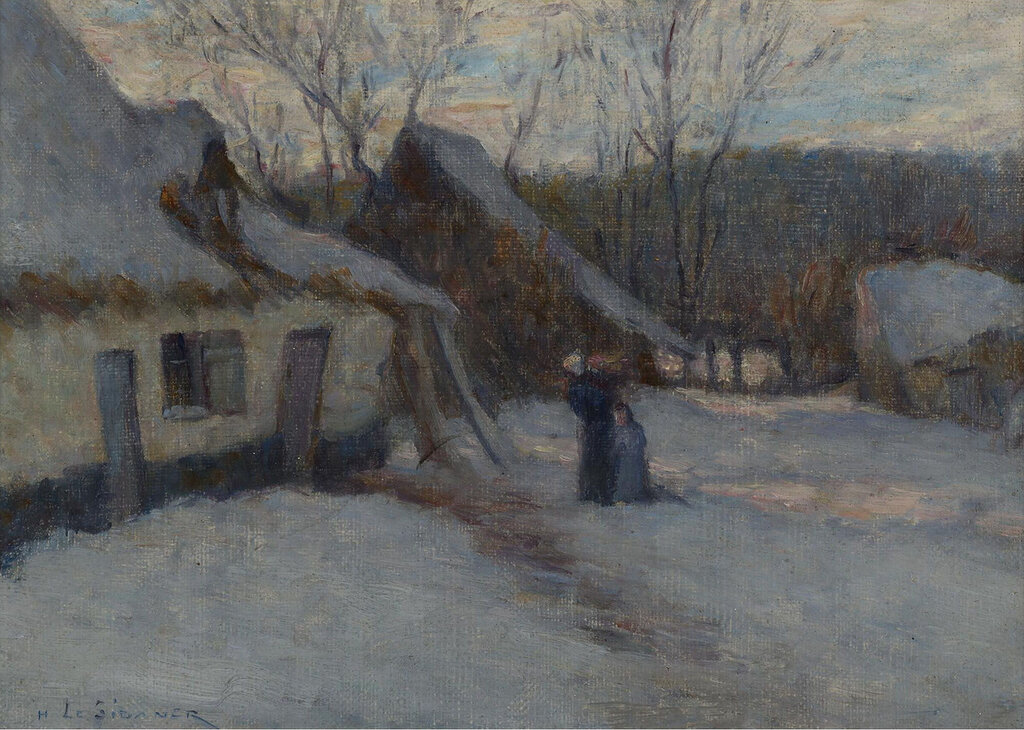 Henri Le Sidaner - Snowy Landscape, Etaples, 1894.jpeg