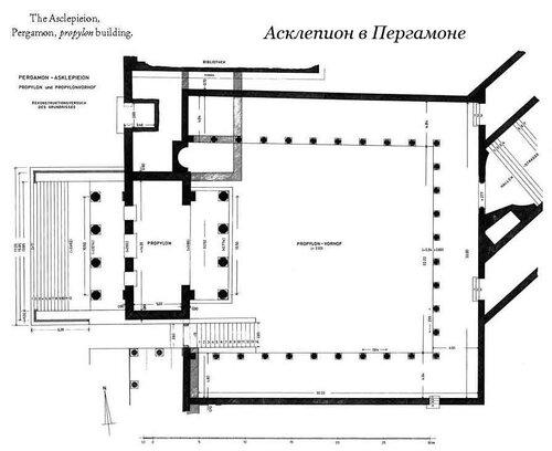 Асклепион города Пергамона, план