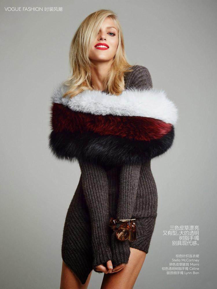 Аня Рубик (Anja Rubik) в журнале Vogue China (10 фото)