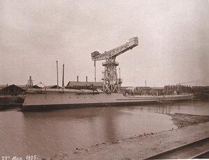 Общий вид минного крейсераМосквитянинпосле спуска на воду.