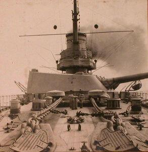 Вид носового шпилевого устройства линейного корабля Севастополь.