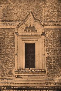 Вид окна церкви Сретения в Борисоглебском монастыре. Ярославская губ., близ Ростова