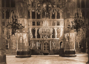 Внутренний вид собора Успения Пресвятой Богородицы. Москва г.