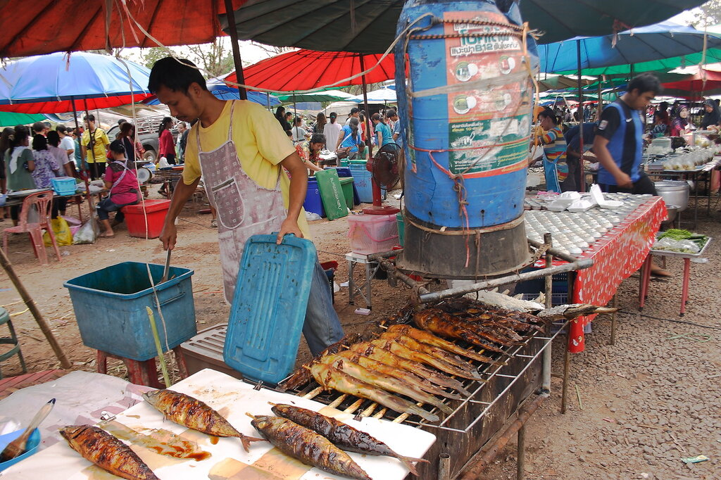 Рыба гриль в Таиланде