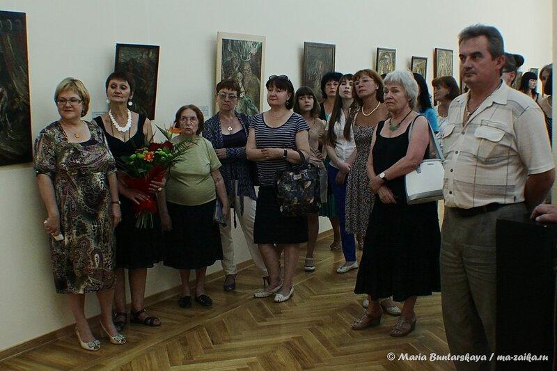 Открытие выставки Юрия Петкевича, Саратов, Радищевский музей, 04 июля 2014 года