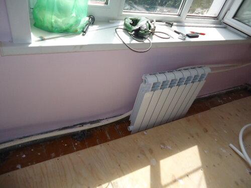 Начали замену радиатора в детской