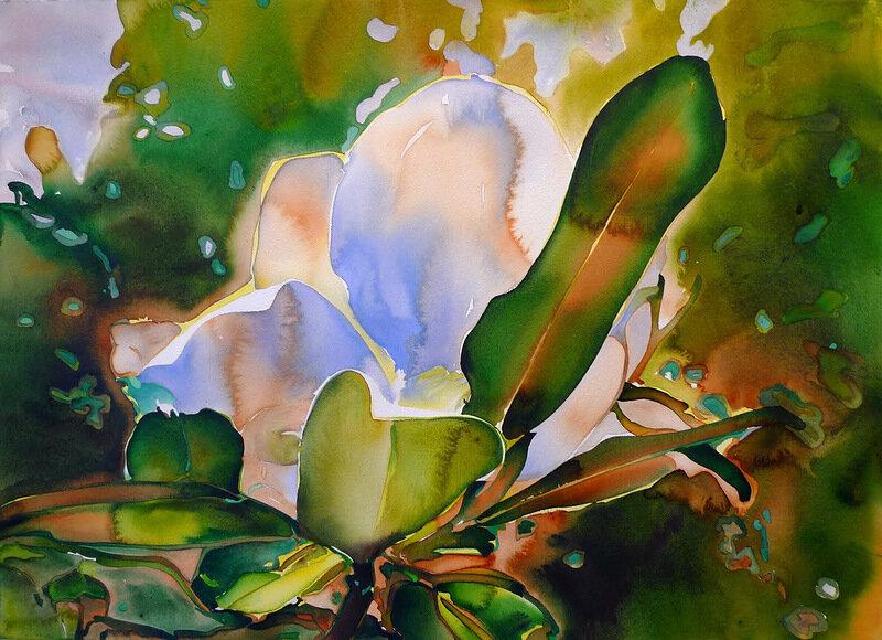 Carol Carter. Цветочная акварель