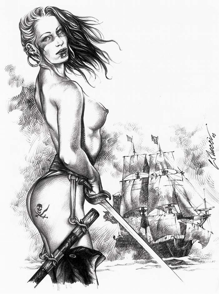 Графика: истории из жизни девушек - пираток (1)