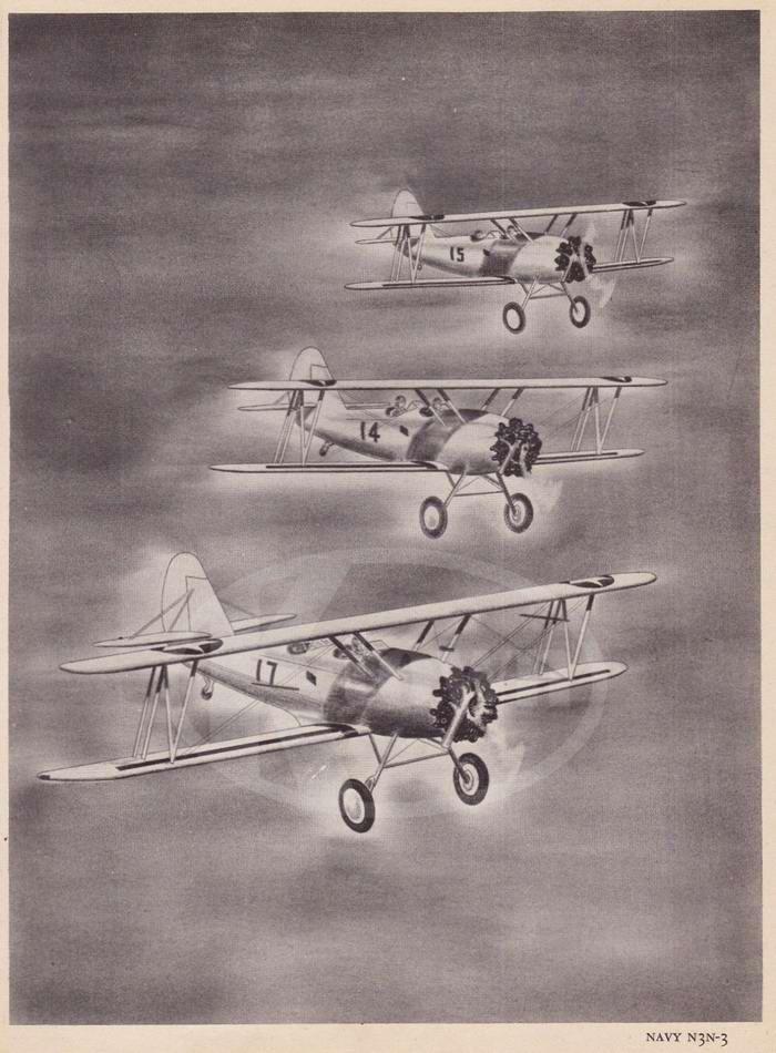 Navy N3N-3 - учебно-тренировочные самолеты