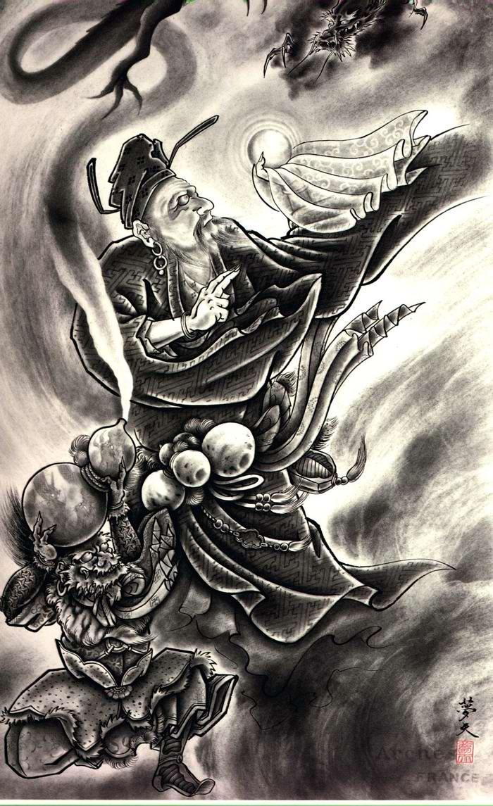 Злобные демоны на эскизах татуировок японского художника Horiyoshi (7)