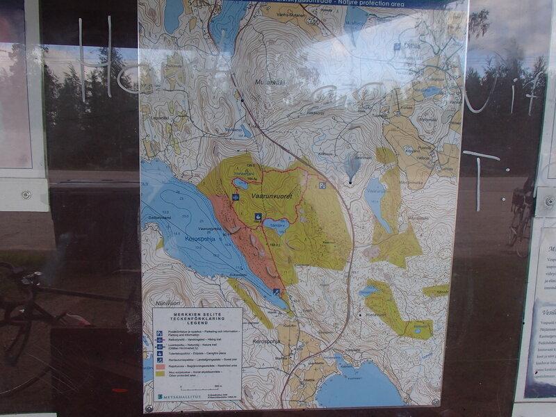 схема парка Ваарунвуорет (Vaarunvuoret)