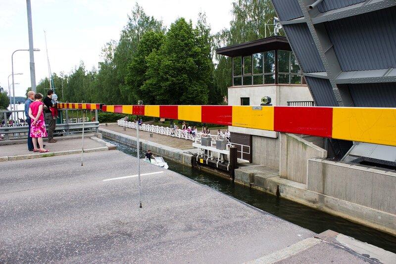 шлюз на канале в Ваксю (Vaksy)