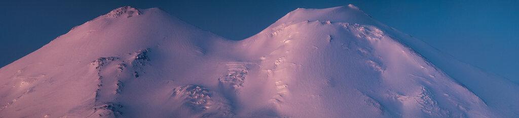 Панорама вершин Эльбруса