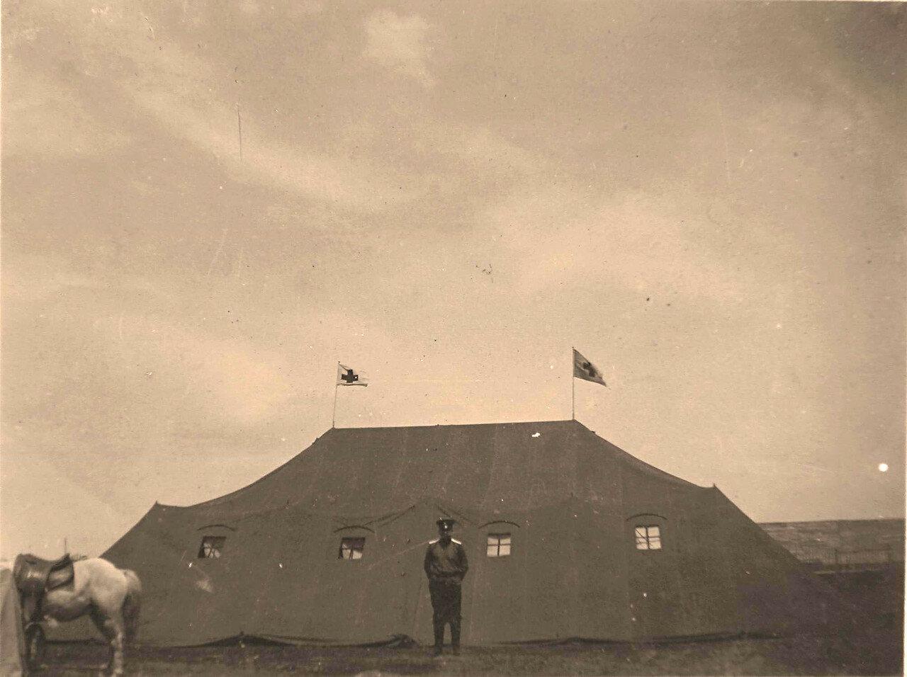 25. Общий вид одной из палаток Гессенского полевого лазарета образца 1899 года (вид сбоку)