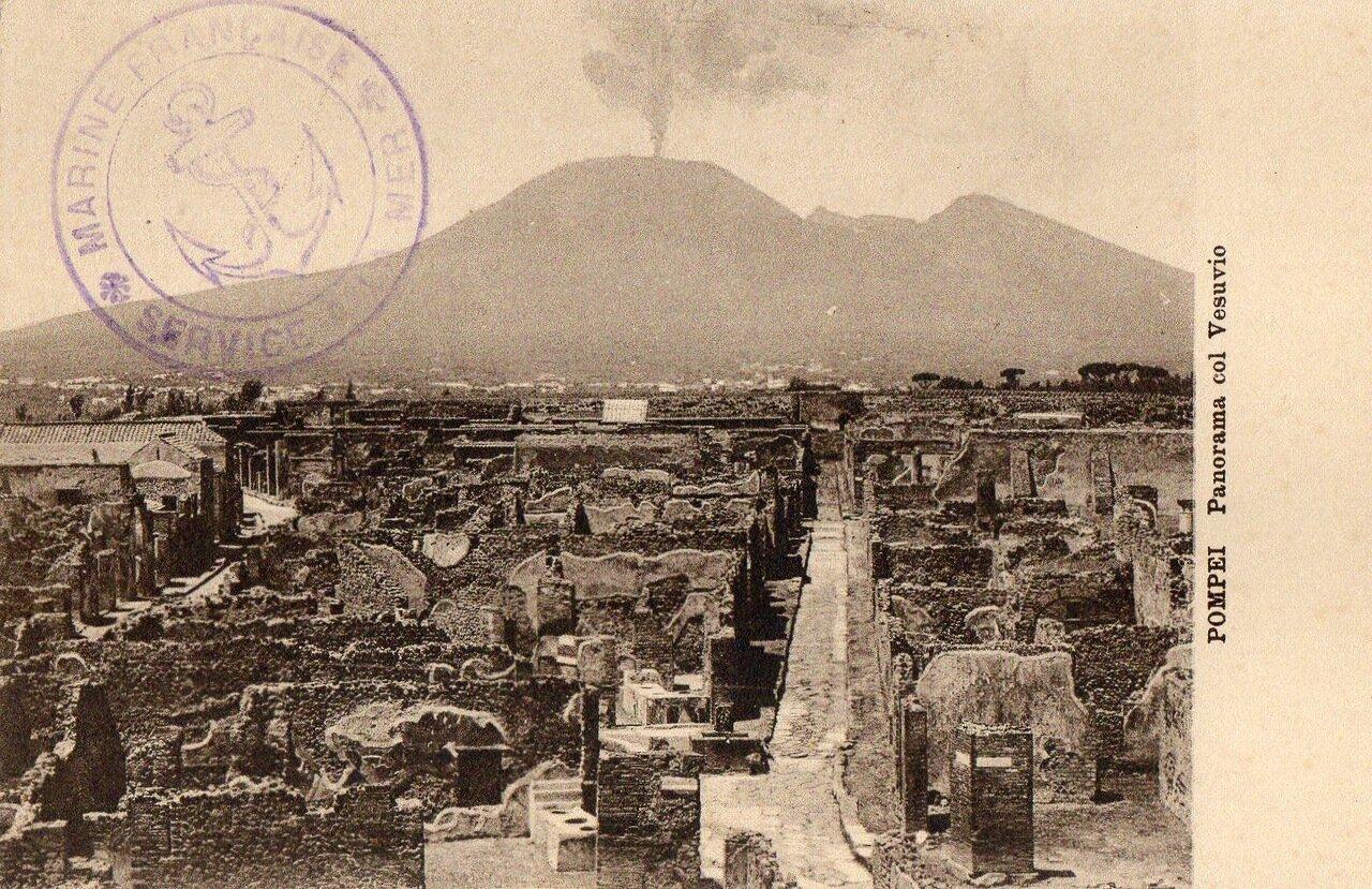 Панорама города с видом Визувия