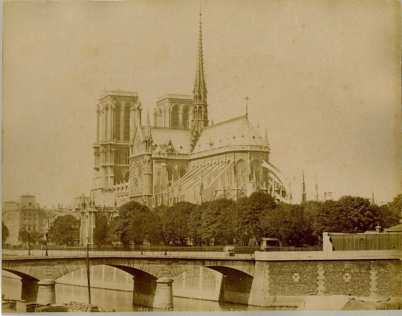 Апсиды Нотр-Дам де Пари.  1870-е