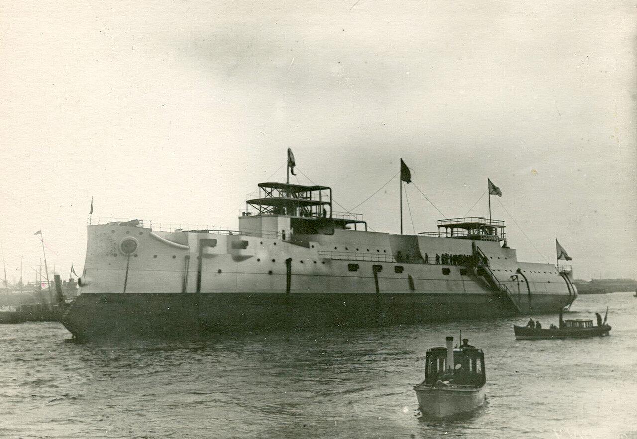 46. Броненосец «Император Александр III», спущенный на воду. 3 августа 1901 года