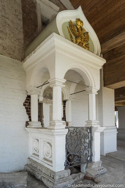 Царское место Храма Вознесения в Коломенском