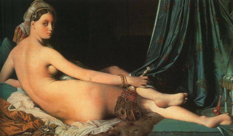 Жан-Огюст-Доминик ЭнгрБольшая одалиска  [1814]Холст, масло. 91 x 162 Лувр, Париж.