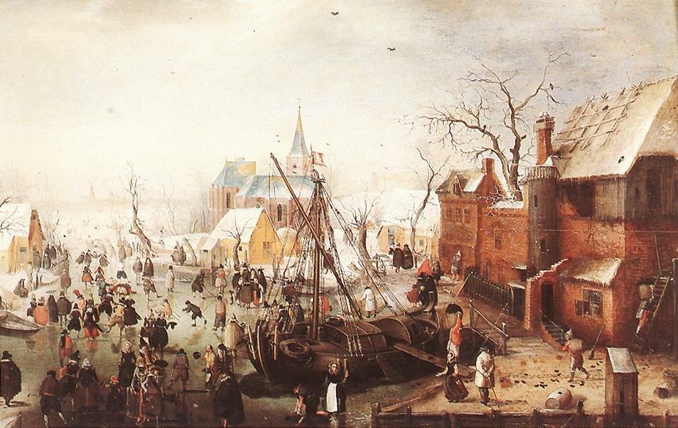Winter Scene at Yselmuiden, Hendrick Avercamp, ca 1613.jpg