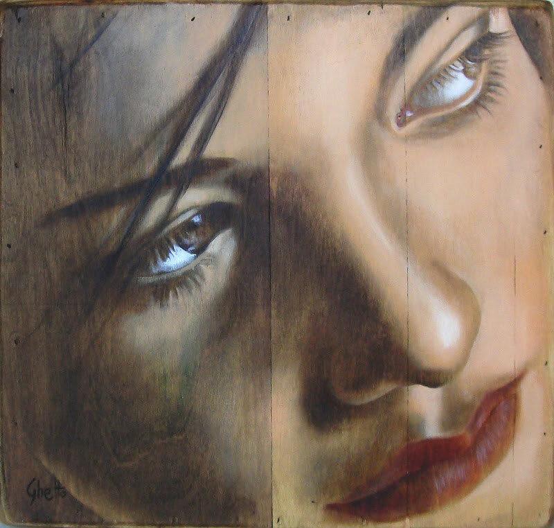 Живопись на деревянных панелях. Художница Lucia Coghetto, Ghetto