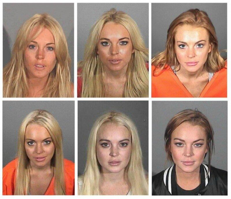 Тюремная пташка Линдси Лохан. Фотографии после оглашения приговора суда в разные годы