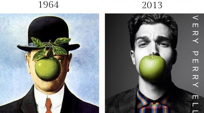 Бельгийский художник Рене Магритт использовал совершенно обычные вещи вроде яблока ишляпы-котелка д