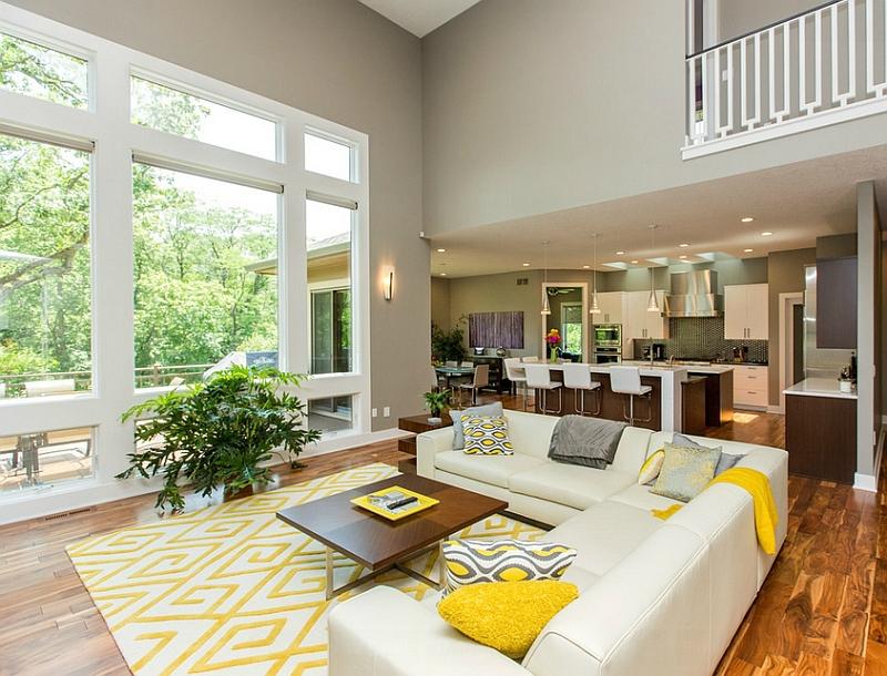 Дизайн интерьера гостиной в светлых оттенках фото 30