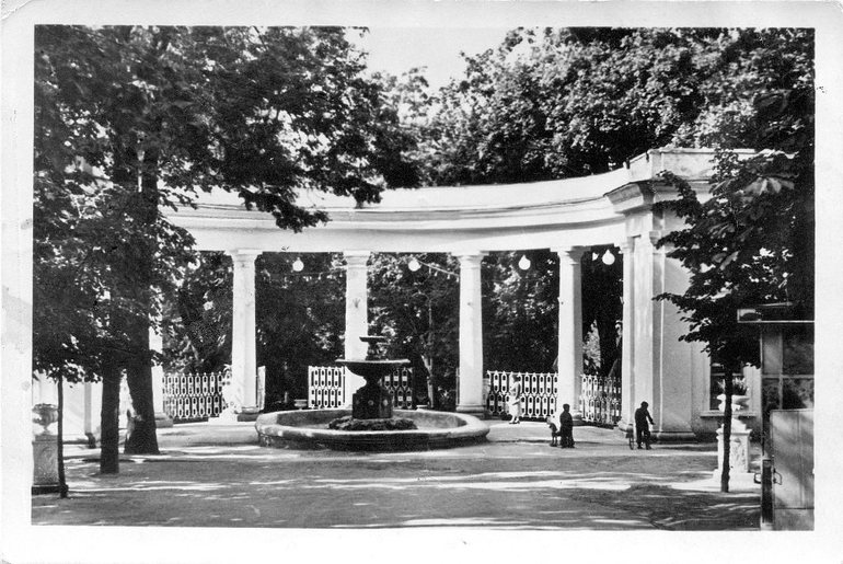 Конец 3-го бульвара, вход в парк, 1961 г. Житомир