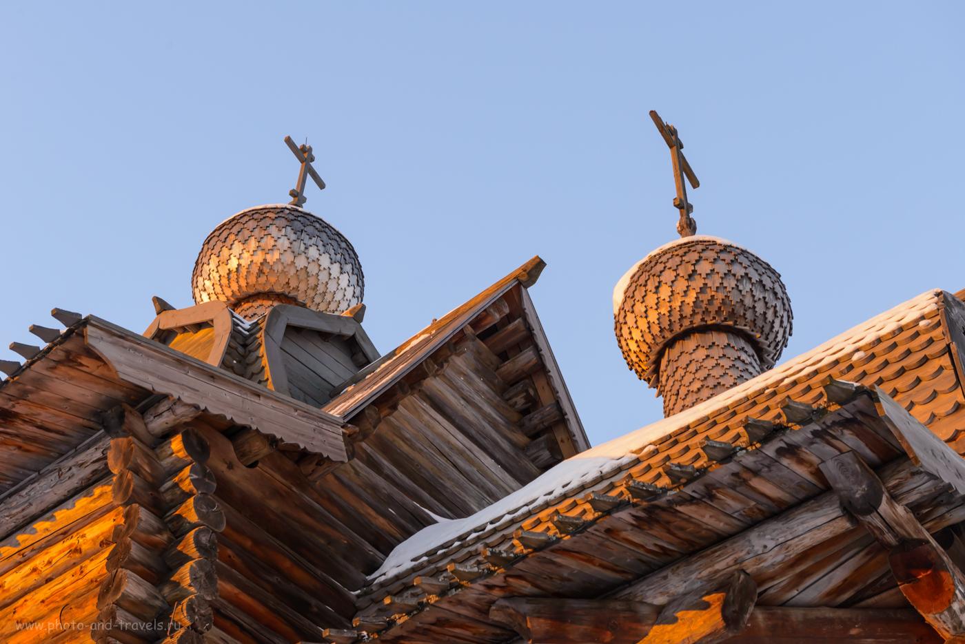 Фотография 5. Купола деревянной Церкви Преображения в архитектрурно-этнографическом музее «Хохловка» в окрестностях Перми. Отзывы туристов об экскурсии. 1/80, 8.0, 640, 52.