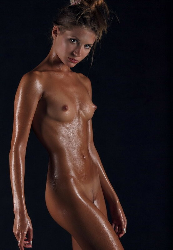 Oiled shaved beauties