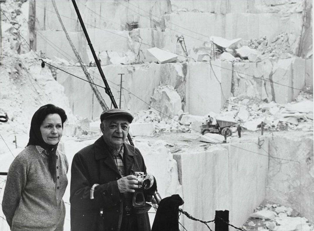 1971. Брассай и Жильберта в Карраре